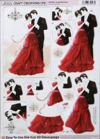 DS419 Sweet Romance, A4 Decoupage sheet