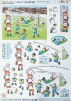 DS425 Life Smiles Football, A4 Decoupage sheet