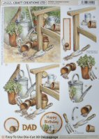 DS428 Gardening, A4 Decoupage sheet