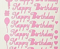 CRAFTEE for Birthday Peel Off Stickers
